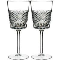 Waterford Diamond Line Crystal Wine Glass, 300ml, Set of 2