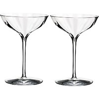 Waterford Crystal Elegance Optic Coupe Glasses, 300ml, Set of 2