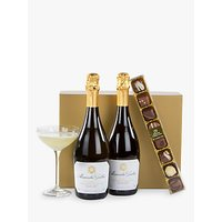 John Lewis Prosecco Duo And Chocolates Gift Box