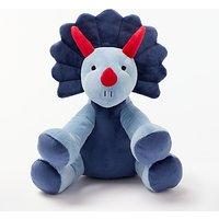 John Lewis Triceratops Dinosaur Plush Soft Toy, Blue