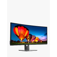 "Dell UltraSharp U3417W Curved Monitor, 34"", Black"