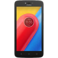 Moto C Smartphone, Android, 5, 4G LTE, SIM Free, 16GB, Starry Black