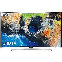 Samsung UE49MU6220 Curved HDR 4K Ultra HD Smart TV, 49 with TVPlus, Black