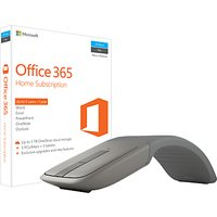 Microsoft Office 365 Home Premium, 5 PCs/Macs + Tablet, One-Year Subscription, with Microsoft Arc Touch Bluetooth Mouse Bundle