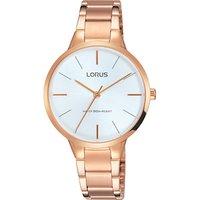 Lorus RRS96VX9 Womens Bracelet Strap Watch, Rose Gold/White