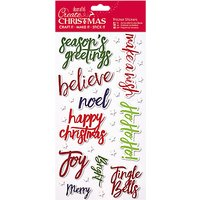 Docrafts Papermania Thick Christmas Words Stickers