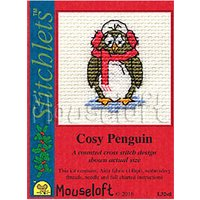 Mouseloft Cosy Penguin Card Counted Cross Stitch Kit