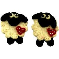 Habico Handmade Felt Sheep, Pack of 2