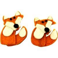 Habico Handmade Felt Fox, Pack of 2