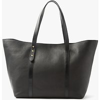 John Lewis Rhea Leather Tote Bag, Black