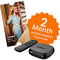 NOW TV Box with 2 Month Entertainment Pass, Black