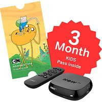 NOW TV Box with 3 Month Kids Pass, Black