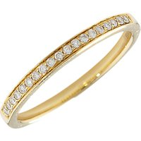shop for London Road 18ct Gold Portobello Raindrop Diamond Half Eternity Ring at Shopo