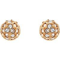 Cachet Pave Ball Swarovski Crystal Stud Earrings, Rose Gold