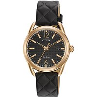 Citizen FE6083-13E Womens Modern Strap Date Leather Strap Watch, Black