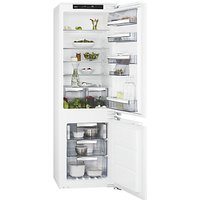 AEG SCE81826NC Integrated Fridge Freezer, A++ Energy Rating, 56cm Wide, White