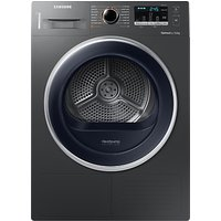 Samsung DV80M5013QX/EU Freestanding Heat Pump Condenser Tumble Dryer, 8kg Load, A++ Energy Rating, Graphite