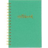 A5 Spiral Notebook, Aqua