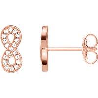 Thomas Sabo Glam & Soul Cubic Zirconia Infinity Stud Earrings, Rose Gold