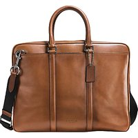 Coach Metropolitan Slim Soft Leather Briefcase, Tan