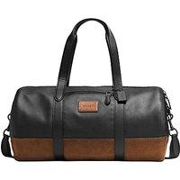 Coach Metropolitan Leather Gym Bag, Black/Brown