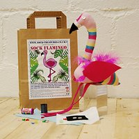 Sock Creatures Create Your Own Sock Flamingo Craft Kit