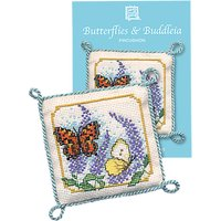 Textile Heritage Butterfly Pin Cushion Counted Cross Stitch Kit, Multi