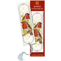 Textile Heritage Robin Bookmark Counted Cross Stitch Kit, Multi