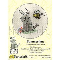 Mouseloft Little Dog Summer Time Counted Cross Stitch Kit