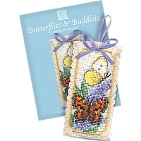 Textile Heritage Butterfly/Buddleia Sachet Counted Cross Stitch Kit, Multi