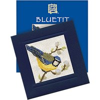 Textile Heritage Blue Tit Card Counted Cross Stitch Kit, Multi