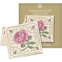 Textile Heritage Damask Rose Needle Case Counted Cross Stitch Kit, Multi