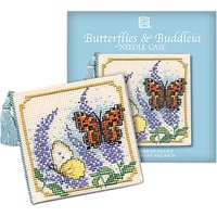 Textile Heritage Butterfly/Buddleia Needle Case Counted Cross Stitch Kit, Multi