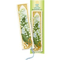 Textile Heritage Lily The Valley Bookmark Counted Cross Stitch Kit, Multi