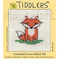 Mouseloft Tiddlers Fox Counted Cross Stitch Kit