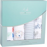 Aden + Anais Leader of the Pack Print Baby Swaddle Blanket, Pack of 4