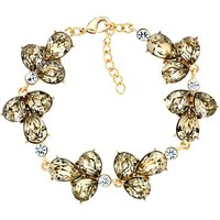 Monet Glass Crystal Cluster Bracelet, Gold/Multi
