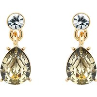 Monet Glass Crystal Teardrop Drop Earrings, Gold/Multi