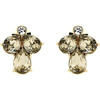 Monet Glass Crystal Teardrop Clip-On Earrings, Gold/Multi