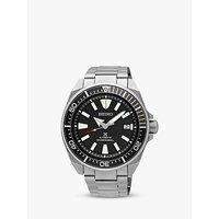 Seiko SRPB51K1 Men's Prospex Samurai Automatic Bracelet Strap Watch, Silver/Black