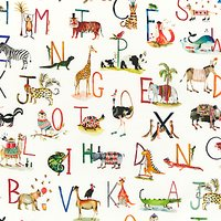 Prestigious Textiles Animal Alphabet PVC Tablecloth Fabric, Multi