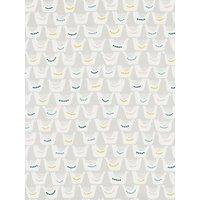 John Lewis Scandi Birds PVC Tablecloth Fabric, Grey