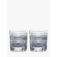 Royal Doulton R&D Collection Radial Crystal Cut Glass Tumblers, 290ml, Set of 2