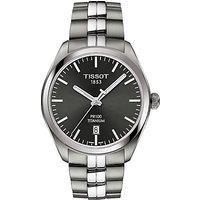 Tissot T1014104406100 Mens PR100 Date Bracelet Strap Watch, Silver/Black