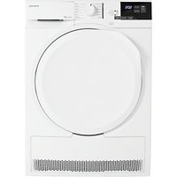 John Lewis & Partners JLTDH22 Heat Pump Tumble Dryer, 8kg Load, A+ Energy Rating, White