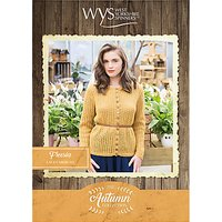 West Yorkshire Spinners Bluefaced Leicester Womens Freesia Cardigan Knitting Pattern