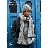 Rico Luxury Alpaca Superfine Men's Accessories And Jumper Knitting Pattern, 652