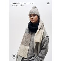 Rico Luxury Alpaca Superfine Women's Hat And Scarf Knitting Pattern, 667
