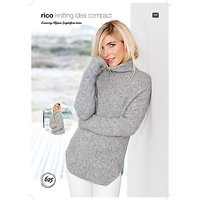 Rico Luxury Alpaca Superfine Women's Jumper And Cardigan Knitting Pattern, 625