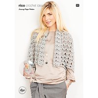 Rico Design Magic Mohair Cardigan, Hat and Scarf Crochet Pattern, 630